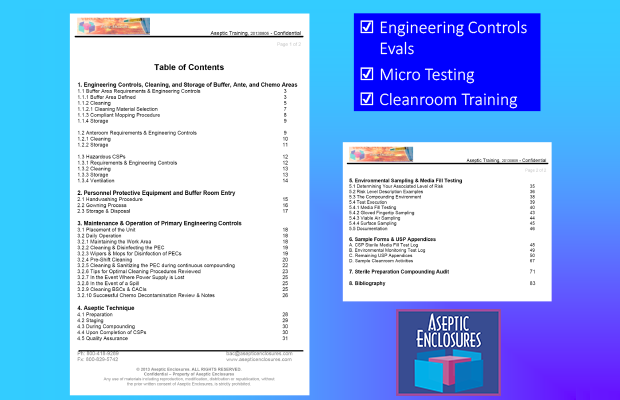 Screenshot of Cleanroom Training document